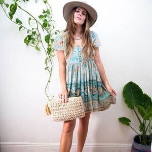 Blue seashell gypsy dress